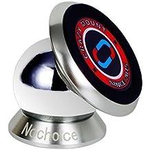 Nochoice® Soporte Magnético Universal de Soporte Auto Car Mount Metálico de 360° Rotación para IPHONE SAMSUNG HUAWEI teléfono inteligente Tablet etc(35 Silver)