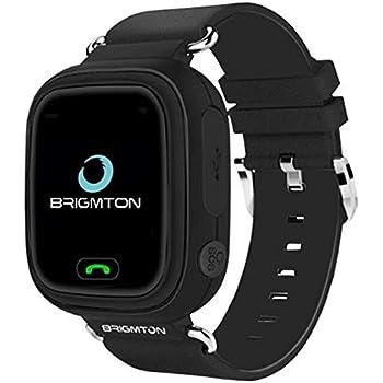 Brigmton BWATCH-Kids SmartWatch GPS Negro: Amazon.es ...