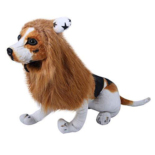 Löwenmähne Hund Löwe Mähne Verstellbar Haustier Löwenmähne Haustier Löwen Perücke Golden Retriever Tierhaare Perfekt für Weihnachten Halloween Festival Party Kleidung(L) ()