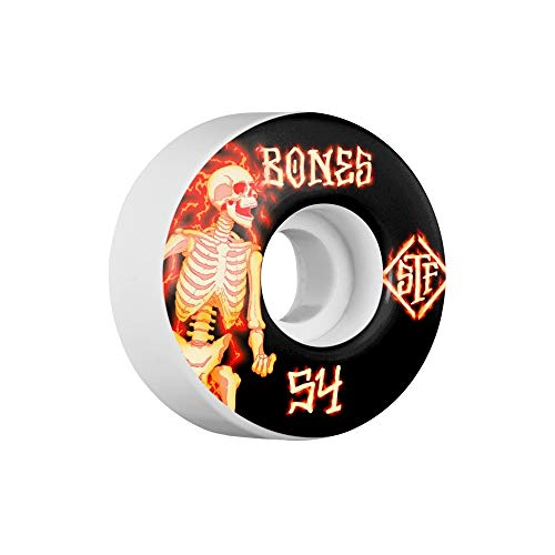 Bones Wheels Skateboard Wheels STF Blazer 83B V3 54mm Wheels (Bones Stf 54mm)