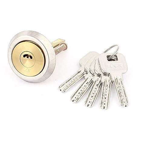 sourcingmap® Bureau Cabinet Accueil Vitrine Tiroirs Serrure sécurité serrure complète ton or avec 5 clés