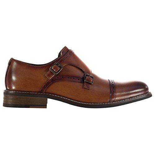 Firetrap Herren Rosenberg Brogue Schuhe Leder Elegant Formal Halbschuhe Tan