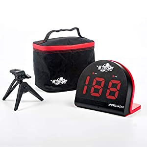 HOCKEY SHOT Puck and Ball Speed Radar Large red 2 1/8″ 3 digit LED display Speed range 3 mph to 150 mph.