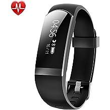 YAMAY Fitness Tracker, Fitness Armband mit Pulsmesser Herzfrequenz Wasserdichte IP67 Aktivitätstracker Fitness uhr Pulsuhren Bluetooth Smart Armbanduhr Schrittzähler für iOS und Android Handys