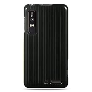 Motorola Droid 3 Snap on Protector Case Cover - Black Line Design