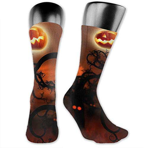 Wfispiy Unisex Performance Cushion Crew Socks Tube Socks Happy Halloween New Middle High Socks Sport Gym Socks