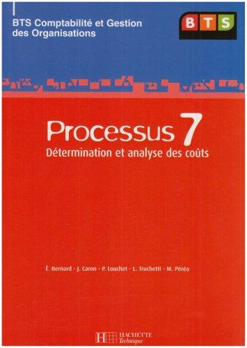 Processus 7 BTS CGO : Détermination et analyse des coûts