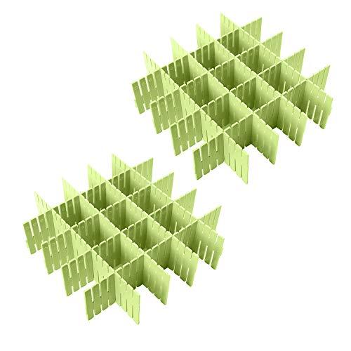 Croing( 16 pcs DIY Organisateur de Tiroir/Grille Diviseur de tiroir/Rangement de tiroir/Separateur de Tiroir pour sous-Vêtements Chaussettes Ceinture Fournitures de Bureau