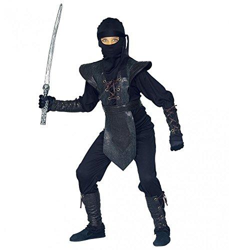 Kinder-Kostüm Ninja Master, Kindergröße:140 - 8 bis 10 (Ninja Bis Für 10 Kinder Jahre Kostüme)