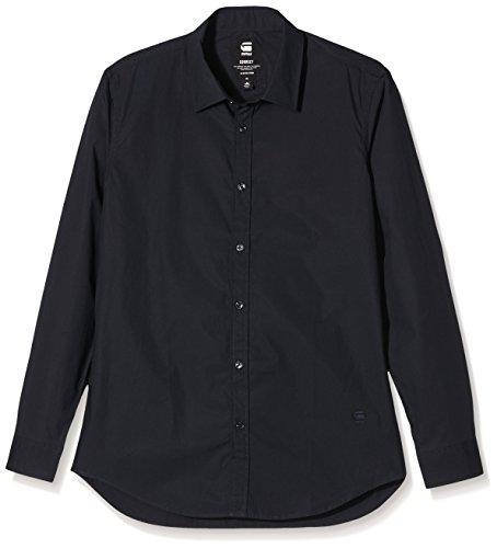 G-Star - Chemise casual - Taille normale - Manches longues - Homme Noir - Noir