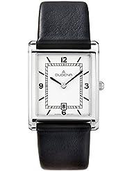 Dugena Herren-Armbanduhr Elegant Analog Quarz Leder 4460634