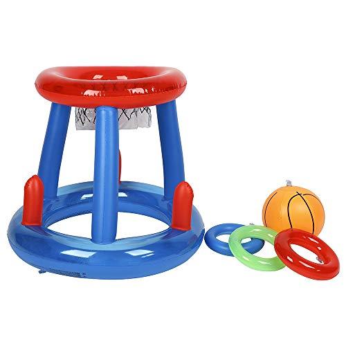 Sandda Aufblasbarer Basketballständer - tragbarer Pool Float Island, Kinder Wasser Basketball Spielzeug, schwimmender Hoop Spiel, Backboard Hoop Netz Strand Spielzeug, mit Ball