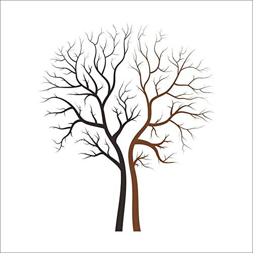 XCGZ Wandsticker Large Size Black Brown Tree Wall Stickers,Home Decor Living Room Office Nursery Decoration,Vinyl Wall Decals Mural