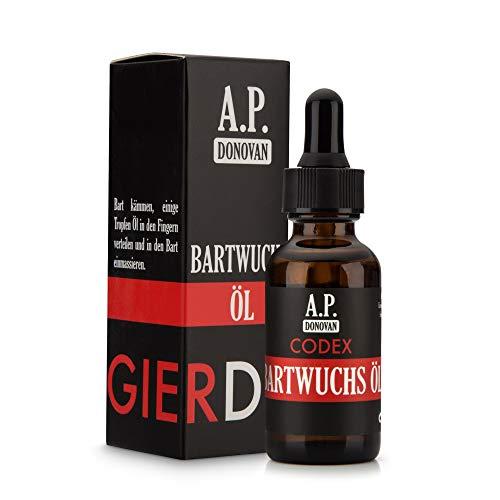 A.P. Donovan - Aceite de crecimiento de barba | Agente de crecimiento de barba para hombres | Cuidado de barba | 30ml