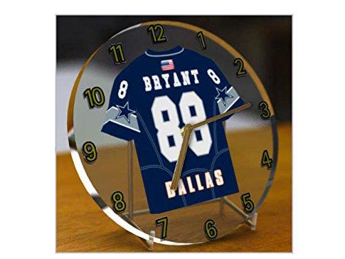 NFL National Football League Desktop Uhren–NFC East American Football Jersey Uhren–Jeder Name, beliebige, jedes Team, damen Herren Kinder, DALLAS COWBOYS