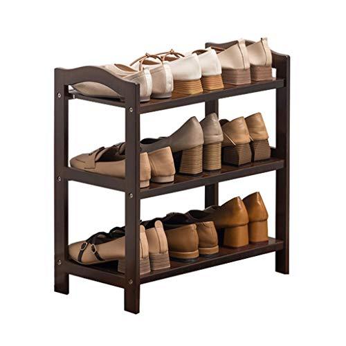 Bambus-Mehrschicht-Schuhregal Einfacher und kostengünstiger Schuhregal für den Heimgebrauch, große Kapazität, sehr gut für Flure/Badezimmer/Gärten geeignet (Color : 3 Layers, Größe : S)