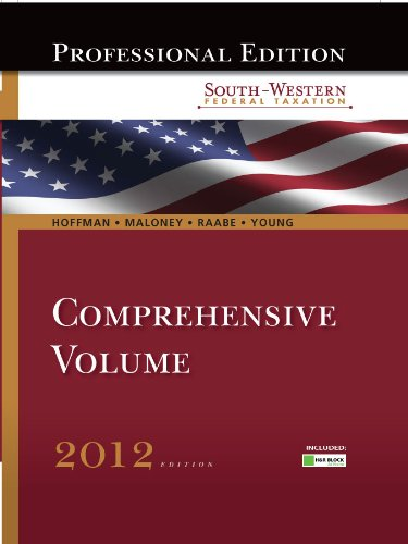 south-western-federal-taxation-2012-comprehensive-professional-edition-with-hr-block-home-tax-prepar
