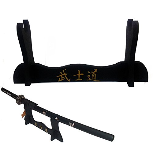 SWORD DISPLAY SUPPORT STAND PEDESTAL WOOD KATANA 1 PLACE TABLE FLOOR NEW GS1