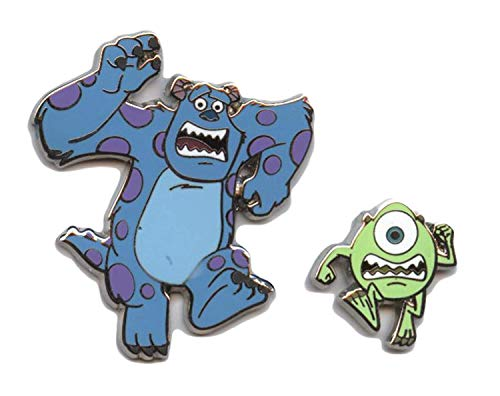 Disney Monsters Inc. University Mike and Sully Running (2 Pin Set) (University Disney Pins Monsters)