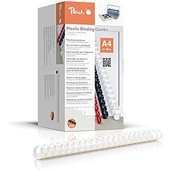 Capacit/à rilegatura: 500 fogli Anelli Plastici Confezione da 50 pezzi Dorsetti per Rilegatura mm.50 Blu