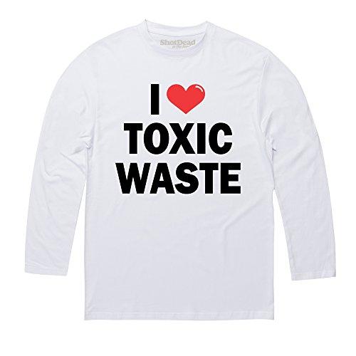 Toxic Waste Langarmshirt, Herren Wei