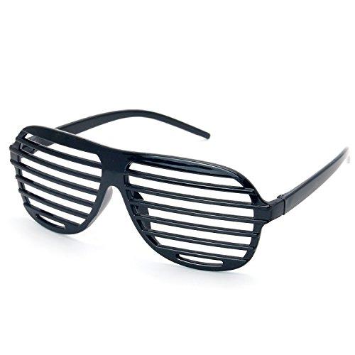 Trixes coole schwarze Sonnenbrille Atzenbrille Gitterbrille für Mottoparties Fasching Karneval