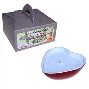 Bougies de massage érotique potion secrète d'amour Ylang Ylang, Citron vert, Basilic 187 g