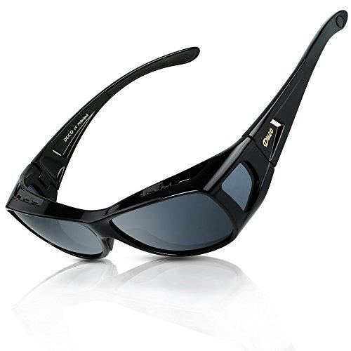 2b295dd1079 DUCO Men s and Women s Polarised Wrap Around Fit-Over Sunglasses over  Prescription Glasses 8953