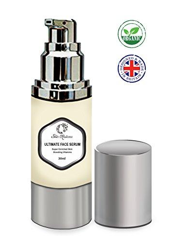 Doppeltstarkes Hyluronsäure-Serum für die Haut von Skin Radiance mit äußerst kräftigem Retinol, Arganöl und Marine-Kollagen – Reinigt und hellt die Haut sofort auf, perfekt als Dermaroller-Serum – UK Vegan