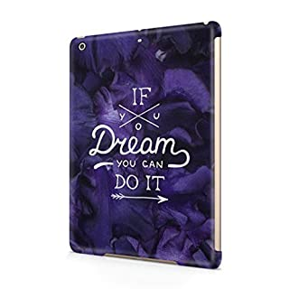 Maceste If You Dream You Can Do It Purple Flower Blossom Pattern Kompatibel mit Apple iPad Air 1 SnapOn Hard Plastic Tablet Protective Fall Handyhülle Case Cover