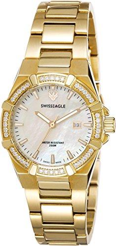 Swiss Eagle Analog White Dial Women's Watch - SE-6041-2M image