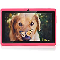 "JYJ 7"" - Tablet Google Android 4.2.2 Allwinner A23 DDR3 Dual Core 1.5 GHz 512MB RAM 8GB RAM, doppia fotocamera,  Wi-Fi, touch-screen, tablet, colore: rosa"