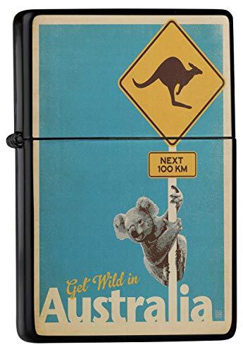 Encendedor De Gasolina Impreso Recargable Australia canguro koala