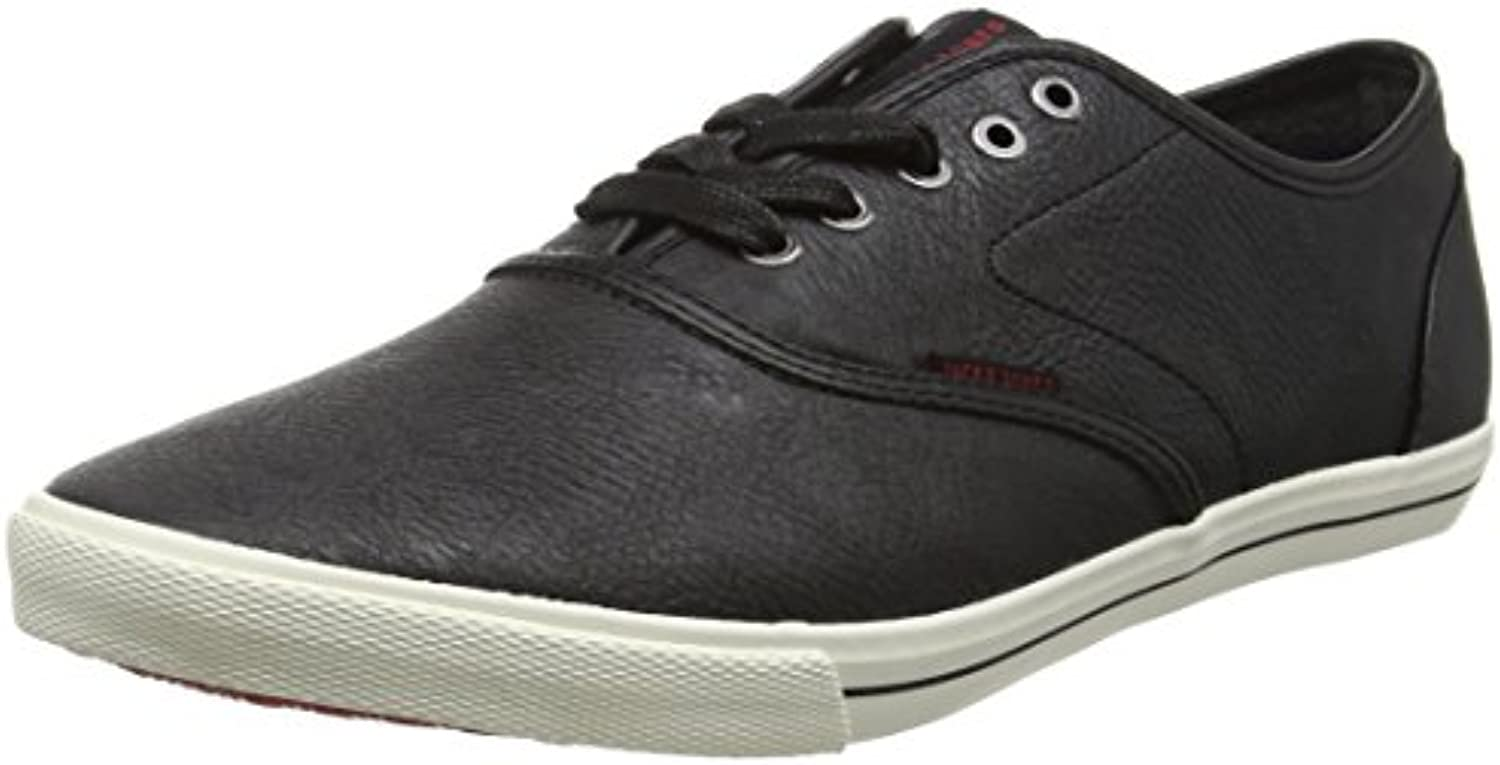 JACK  JONES Herren Jfwspider PU Sneaker Anthracite Low Top  Schwarz