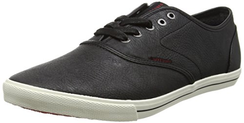 JACK & JONES Jfwspider Pu Sneaker, Scarpe da Ginnastica Basse Uomo, Nero (Anthracite), 43 EU