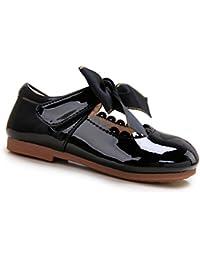 Pettigirl Niñas Bowknot Plana Princesa del Bautizo Nupcial Fiesta Antideslizante Zapatos Escolares Mary Jane