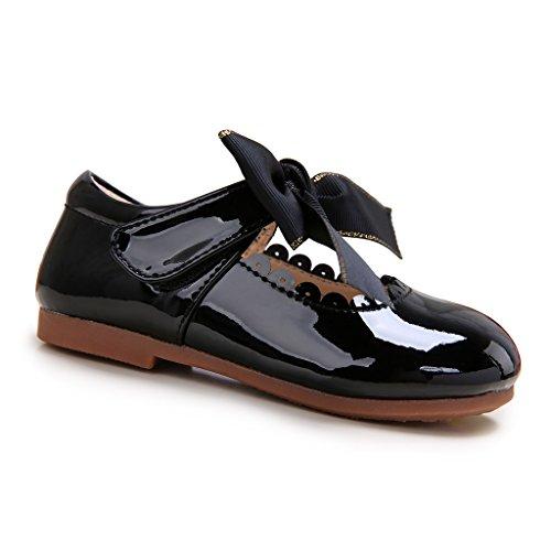 Pettigirl Niñas Bowknot Plana Princesa del Bautizo Nupcial Fiesta Antideslizante Zapatos Escolares...