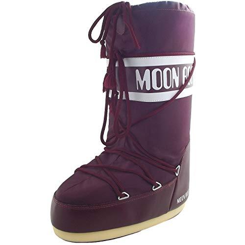 Moon Boot Nylon 14004400-074 Damen Moonboots, Burgundy, Gr. 42-44 EU / 8-9.5 UK
