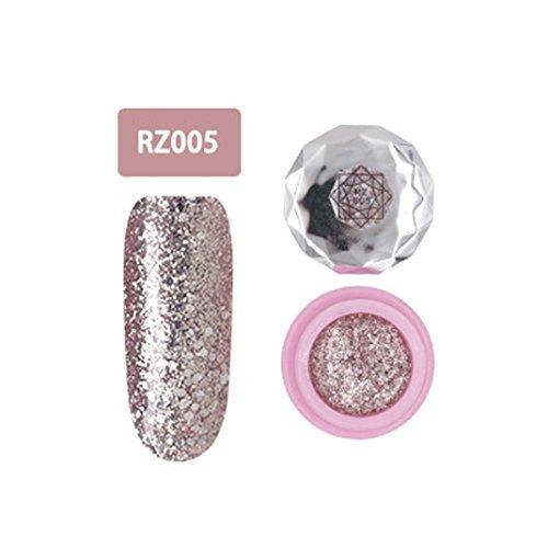 Nagel-Kunst-Gel,Jaminy 12 Farben Che Gel Nagel UV Gel Politur Absaugen Nail Art Decklack Pink Diamond FarbeGel Nagelkunst (E)