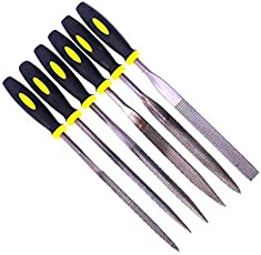 DIY Crafts 5pcs 180mm Mini Assorted Wood Rasp File Set Metal Needle Rasps Files with Rubber Handle