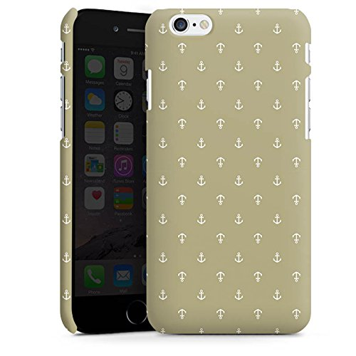 Apple iPhone X Silikon Hülle Case Schutzhülle Anker Muster Vintage Premium Case matt