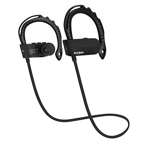 Sport écouteurs, Myguru Q12 Bluetooth Headset sans Fil In-Ear Sport avec Calling Microphone Mains Libres pour iOS et Android Téléphone Samsung iphone iPad Tablet Laptop