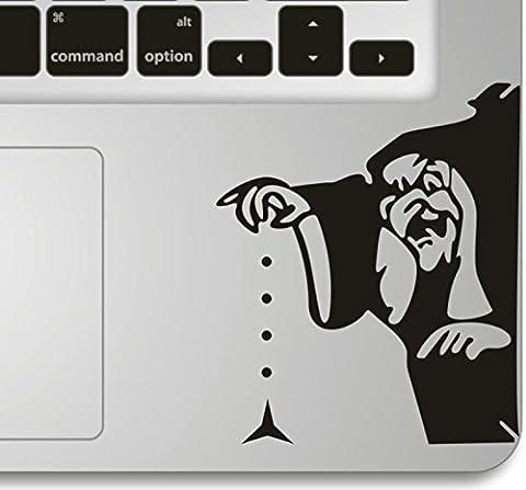 Vati Blätter Removable Fearsome Witch Humor Teilhandmade Art Haut kühler Entwurf Vinylabziehbild Aufkleber für Trackpad Tastatur des Apple Macbook Pro Air Mac Laptop