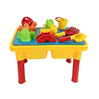Moligh doll Sand and Water Table with Beach Play Set for Kids