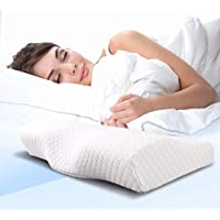 Memory Foam Pillow | Cervical Pillow | Neck Support Pillow | Bed Pillow | Orthopedic Bed Sleeping Pillow | (50x30cm)