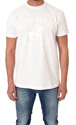 BEVERLY HILLS POLO CLUB - Herren t-shirt mit logo bhpc2657 Weiß