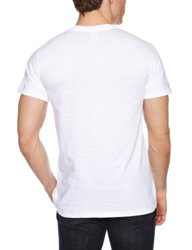 Loudclothing Herren Strandshirt Green Lantern - Logo Glow Bianco (Weiß)