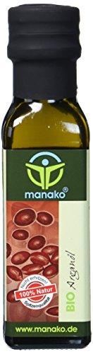 manako BIO Arganöl aus Marokko, geröstet, kaltgepresst, 100% rein, 100 ml Glasflasche (1 x 0,1 l) -
