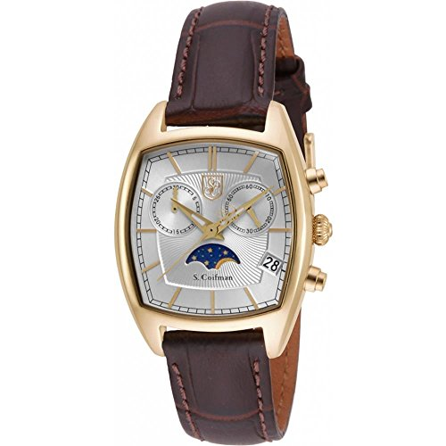 S Coifman SC0329 Ladies Brown Leather Chronograph Watch