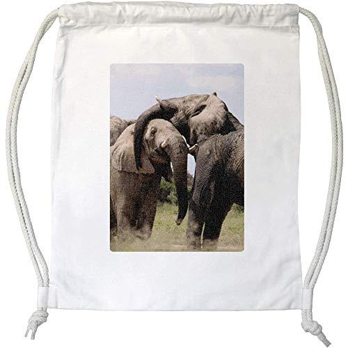 Azeeda 'Elefantes' Cordón / Bolsa de Gimnasio (DB00002331)